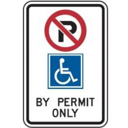 Disabled Park Permit, 30x45cm, Aluminum