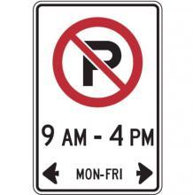 No Parking Days Times, 30x45cm, Aluminum