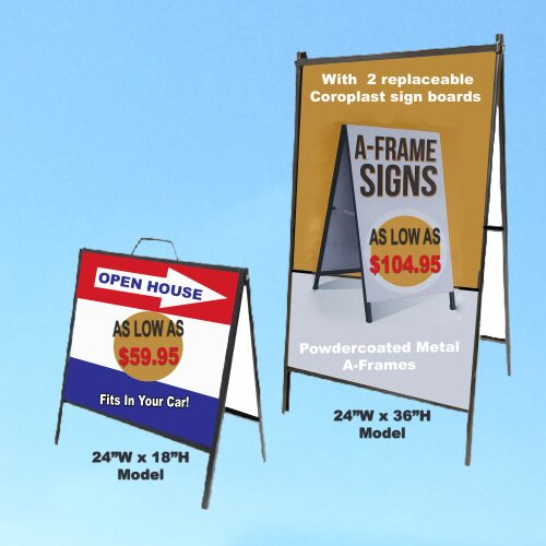 a-frames highlighting pricing
