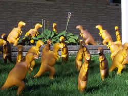 dinosaur lawn ornaments