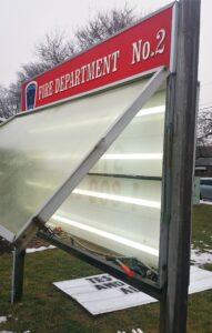 fire department sign repair