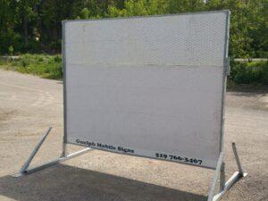 White Billboard Sign