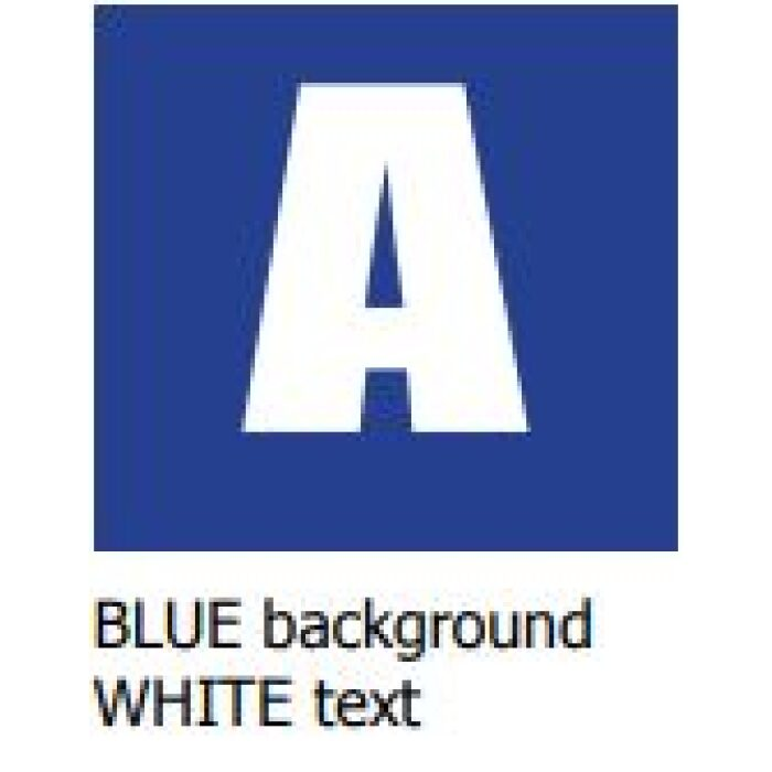 blue background white text