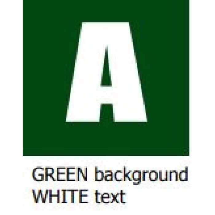 green background white text