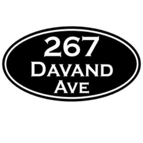 oval sign - design 1