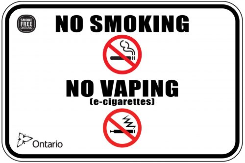 No Smoking / No Vaping - Tobacco and Electronic Cigarette Sign