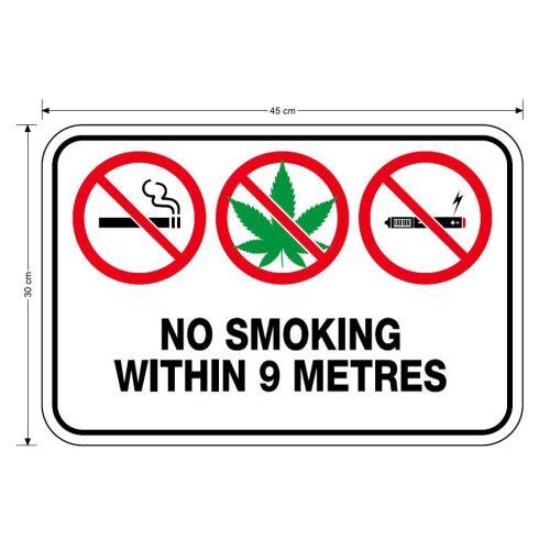 No Smoking within 9 metres