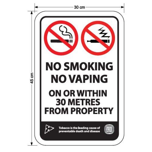 No Smoking - No Vaping 30M