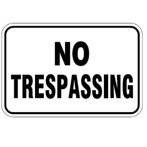 No Trespassing Horizontal Orientation