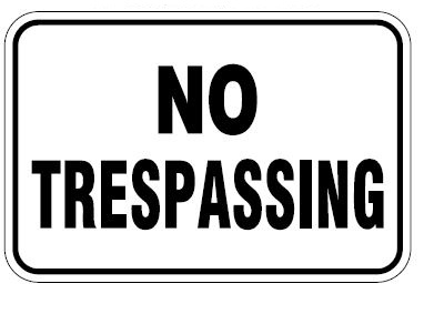 No Trespassing Horizontal Orientation