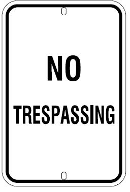 No Trespassing Vertical Orientation