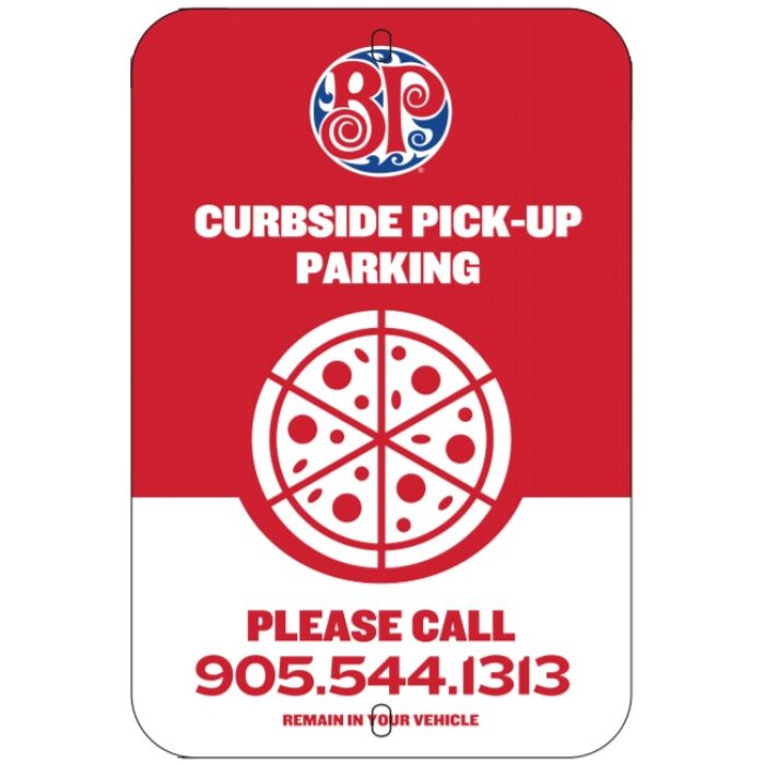 curbside pickup parking sign